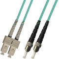 Multimode Duplex OM3 50/125 10 GB Fiber Patch Cable SC-ST 1 Meter